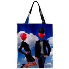 Love Zipper Classic Tote Bag by Valentinaart