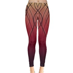 Waves Lines Bands Leggings  by amphoto