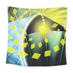Line Light Form  Square Tapestry (large) by amphoto