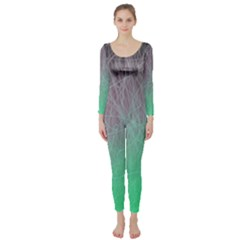 Line Light Surface  Long Sleeve Catsuit