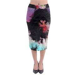 Stains Lines Patterns 3840x2400 Midi Pencil Skirt by amphoto