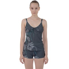 Bird Patterns Backgrounds  Tie Front Two Piece Tankini