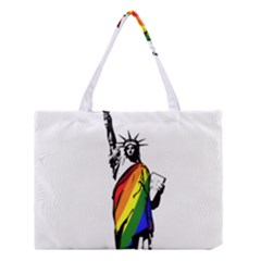 Pride Statue Of Liberty  Medium Tote Bag