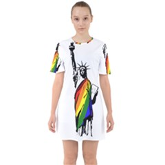 Pride Statue Of Liberty  Mini Dress