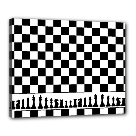 Chess  Canvas 20  X 16  by Valentinaart