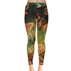 Leaves Plant Multi Colored  Leggings  by amphoto