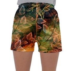 Leaves Plant Multi Colored  Sleepwear Shorts by amphoto