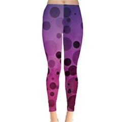 Circles Surface Light  Leggings  by amphoto