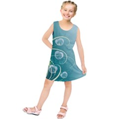 Patterns Plants Light  Kids  Tunic Dress