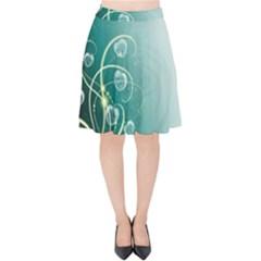 Patterns Plants Light  Velvet High Waist Skirt
