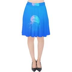 Jellyfish Velvet High Waist Skirt by Valentinaart