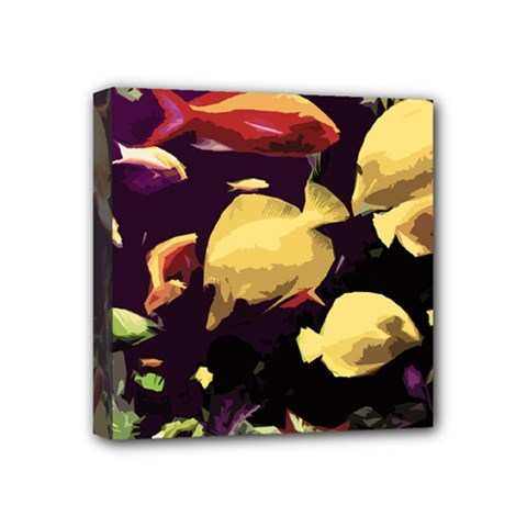 Tropical Fish Mini Canvas 4  X 4  by Valentinaart