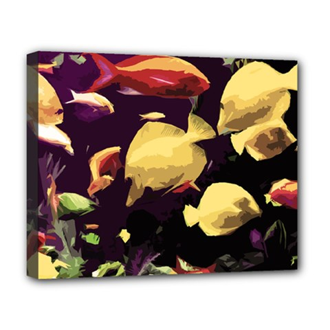 Tropical Fish Deluxe Canvas 20  X 16   by Valentinaart