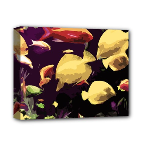 Tropical Fish Deluxe Canvas 14  X 11  by Valentinaart