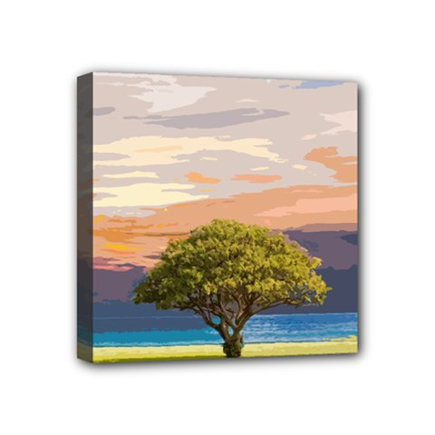 Landscape Mini Canvas 4  X 4  by Valentinaart