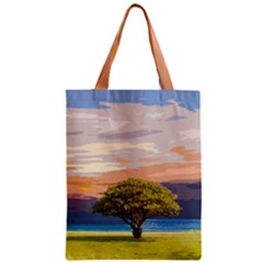 Landscape Zipper Classic Tote Bag