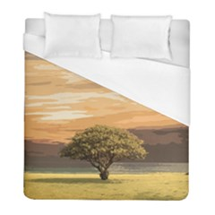 Landscape Duvet Cover (full/ Double Size) by Valentinaart