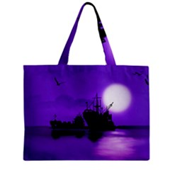 Open Sea Zipper Mini Tote Bag by Valentinaart