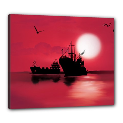 Open Sea Canvas 24  X 20  by Valentinaart