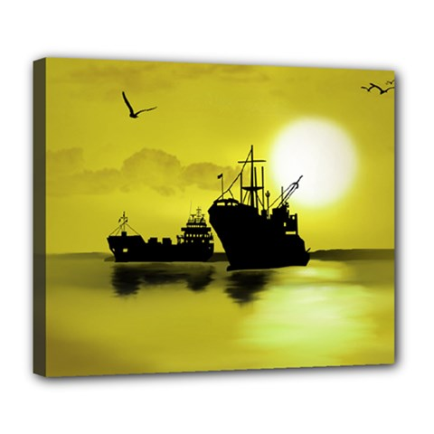 Open Sea Deluxe Canvas 24  X 20   by Valentinaart