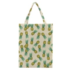 Pineapples Pattern Classic Tote Bag by Valentinaart