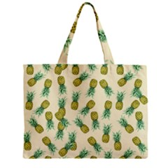 Pineapples Pattern Zipper Mini Tote Bag by Valentinaart