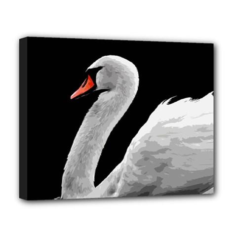 Swan Deluxe Canvas 20  X 16   by Valentinaart