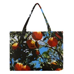 Orange Tree Medium Tote Bag by Valentinaart