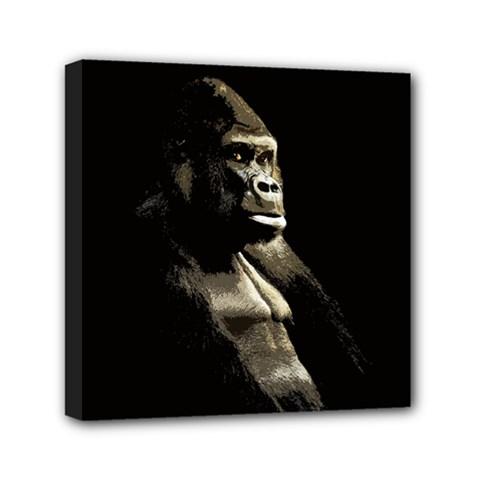 Gorilla  Mini Canvas 6  X 6  by Valentinaart