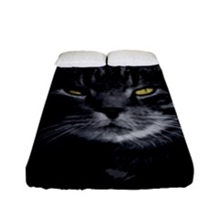 Domestic Cat Fitted Sheet (full/ Double Size) by Valentinaart