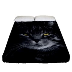 Domestic Cat Fitted Sheet (queen Size) by Valentinaart