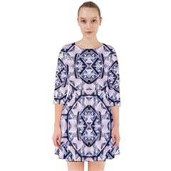 Futuristic Geometric Pattern  Smock Dress