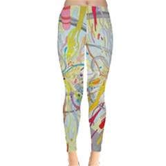 Drawing Multicolored Light  Leggings  by amphoto