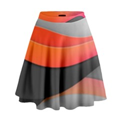 Line Shape Light  High Waist Skirt by amphoto