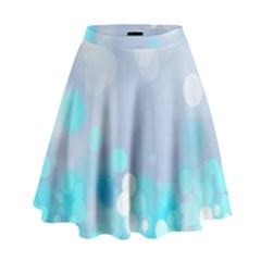 Highlights Circles Light  High Waist Skirt by amphoto