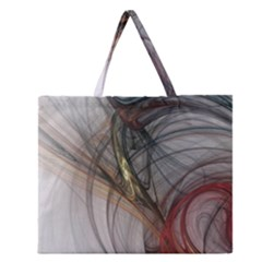 Plexus Web Light  Zipper Large Tote Bag by amphoto