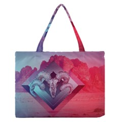 Horns Background Cube  Zipper Medium Tote Bag by amphoto