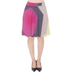 Allen Form Light  Velvet High Waist Skirt by amphoto