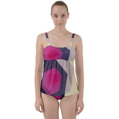 Allen Form Light  Twist Front Tankini Set by amphoto