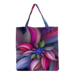 Flower Rotation Form  Grocery Tote Bag by amphoto