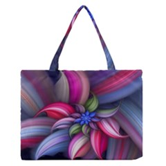 Flower Rotation Form  Zipper Medium Tote Bag by amphoto