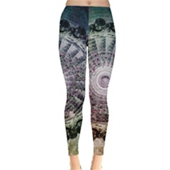 Circle Figures Background  Leggings  by amphoto