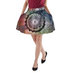 Circle Figures Background  A Line Pocket Skirt by amphoto