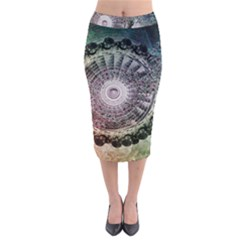 Circle Figures Background  Midi Pencil Skirt by amphoto
