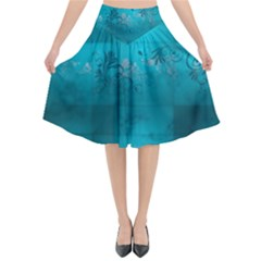 Volume Pattern Abstract Flared Midi Skirt by amphoto