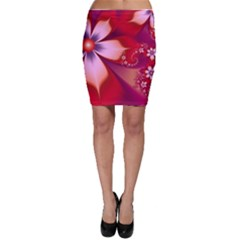 2480 Flowers Petals Red 3840x2400 Bodycon Skirt by amphoto