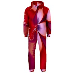 2480 Flowers Petals Red 3840x2400 Hooded Jumpsuit (men)