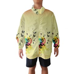 2398 Flight Sky Butterflies 3840x2400 Wind Breaker (kids) by amphoto