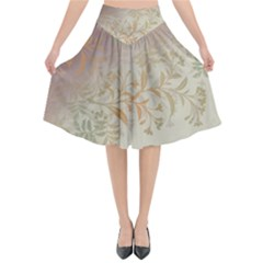 2349 Pattern Background Faded 3840x2400 Flared Midi Skirt