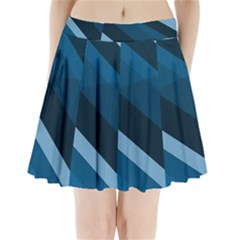 2435 Line Gray Blue 3840x2400 Pleated Mini Skirt